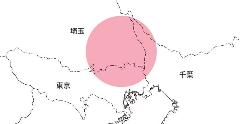 東京・千葉・埼玉の地図