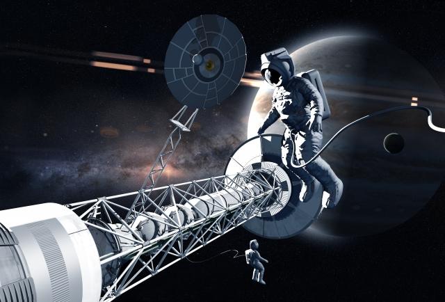 宇宙飛行士、惑星、宇宙